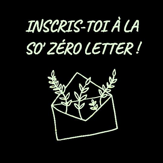 so zéro letter